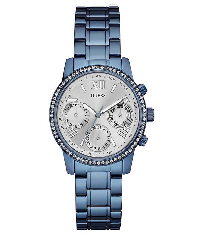 GUESS Crystals Blue Stainless Steel Bracelet W0623L4 Guess Γυναικεία