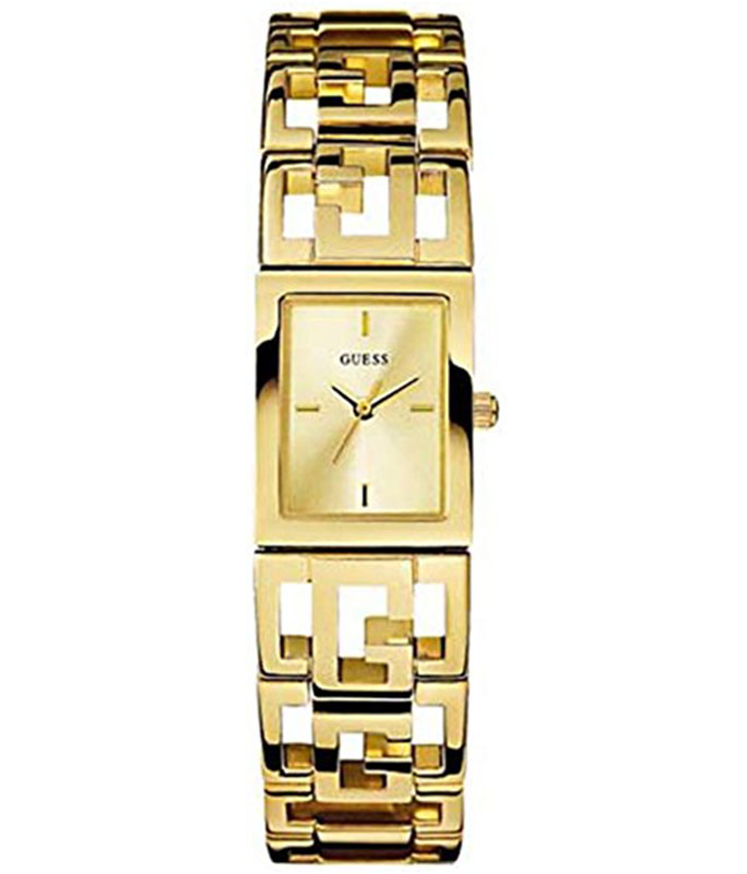 Guess G Lattice Gold Stainless-Steel Bracelet Gold Dial W10556L1 Guess Γυναικεία