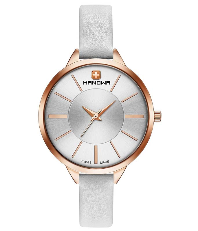 SWISS MILITARY HANOWA Elisa White Leather Strap 16-6076.09.001 Swiss Military Hanowa Γυναικεία