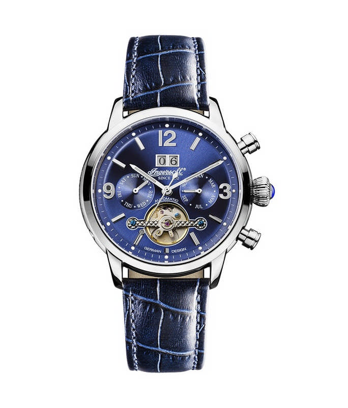 INGERSOLL Belle Star Automatic Blue Leather Strap IN1826BL Ingersoll Ανδρικά