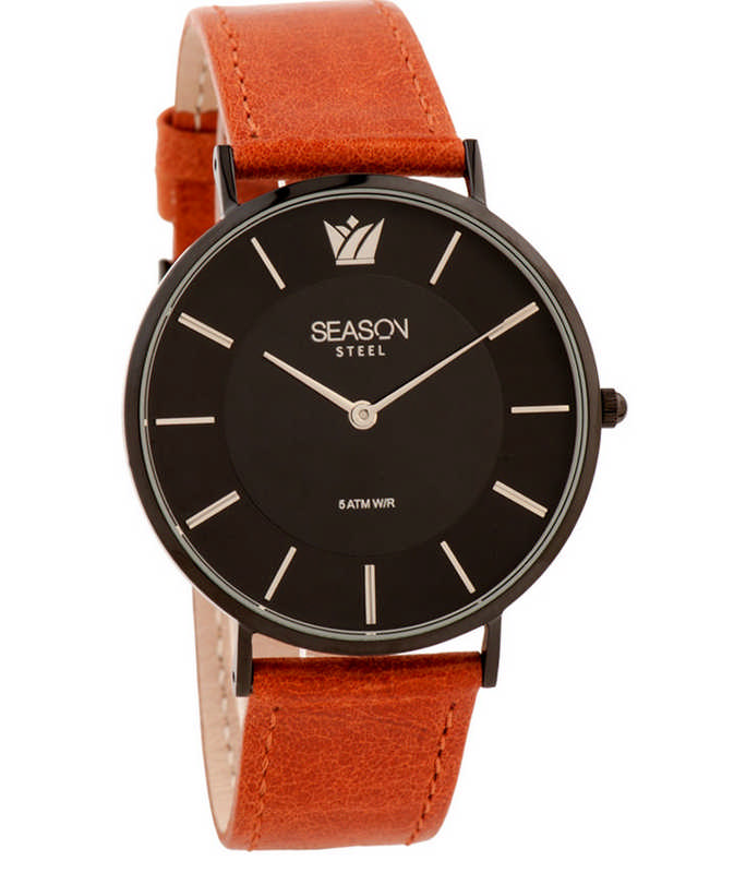 SEASON TIME Famous Brown Leather Strap 731-2 Season Time Γυναικεία 723c1f28cf6