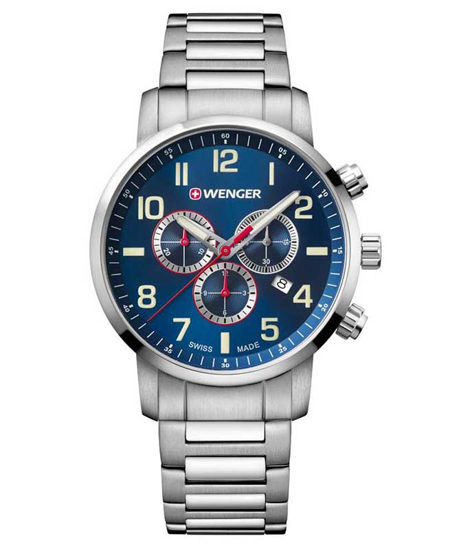 WENGER Attitude Stainless Steel Chronograph 01.1543.101 Wenger Ανδρικά