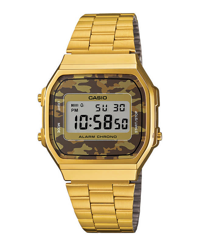 CASIO Collection Gold Stainless Steel A-168WEGC-5EF Casio Ανδρικά