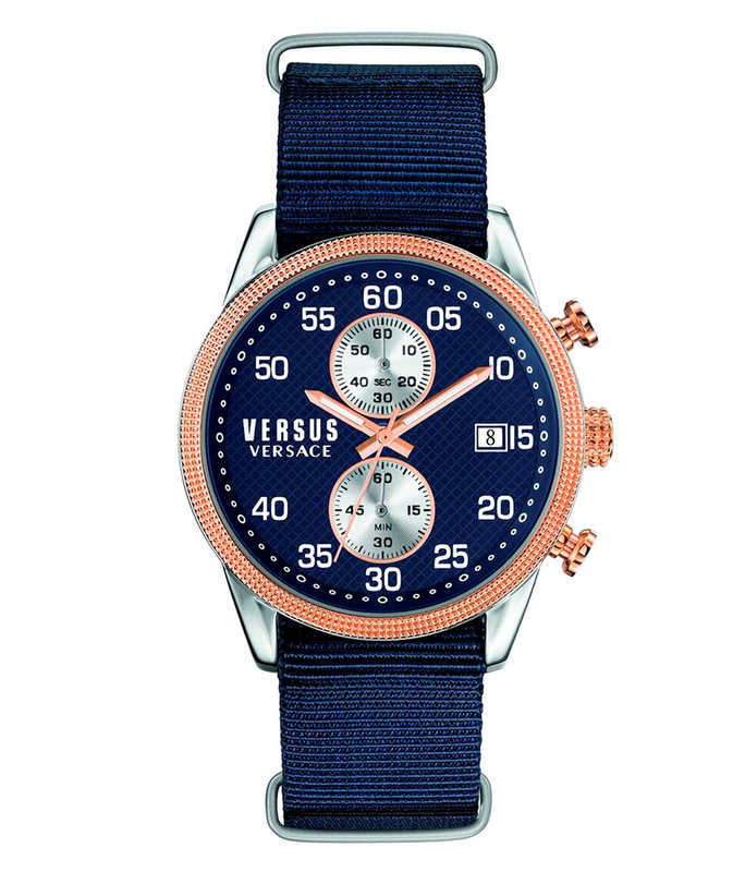 VERSUS V-Shoreditch  Blue Fabric Strap S66090016 Versus Ανδρικά
